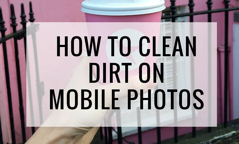 How  to 'clean' dirt on photos