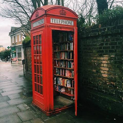 Micro Library in a booth – Corner of Lewisham Way and Tyrwhitt Road