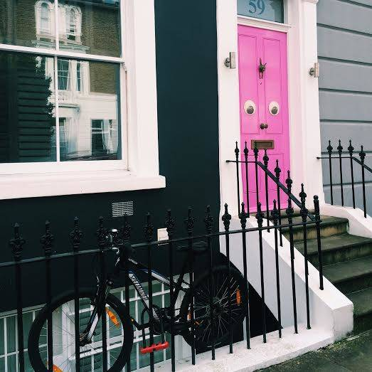 Pink with eyes – Porland Road, Notting Hill – 2