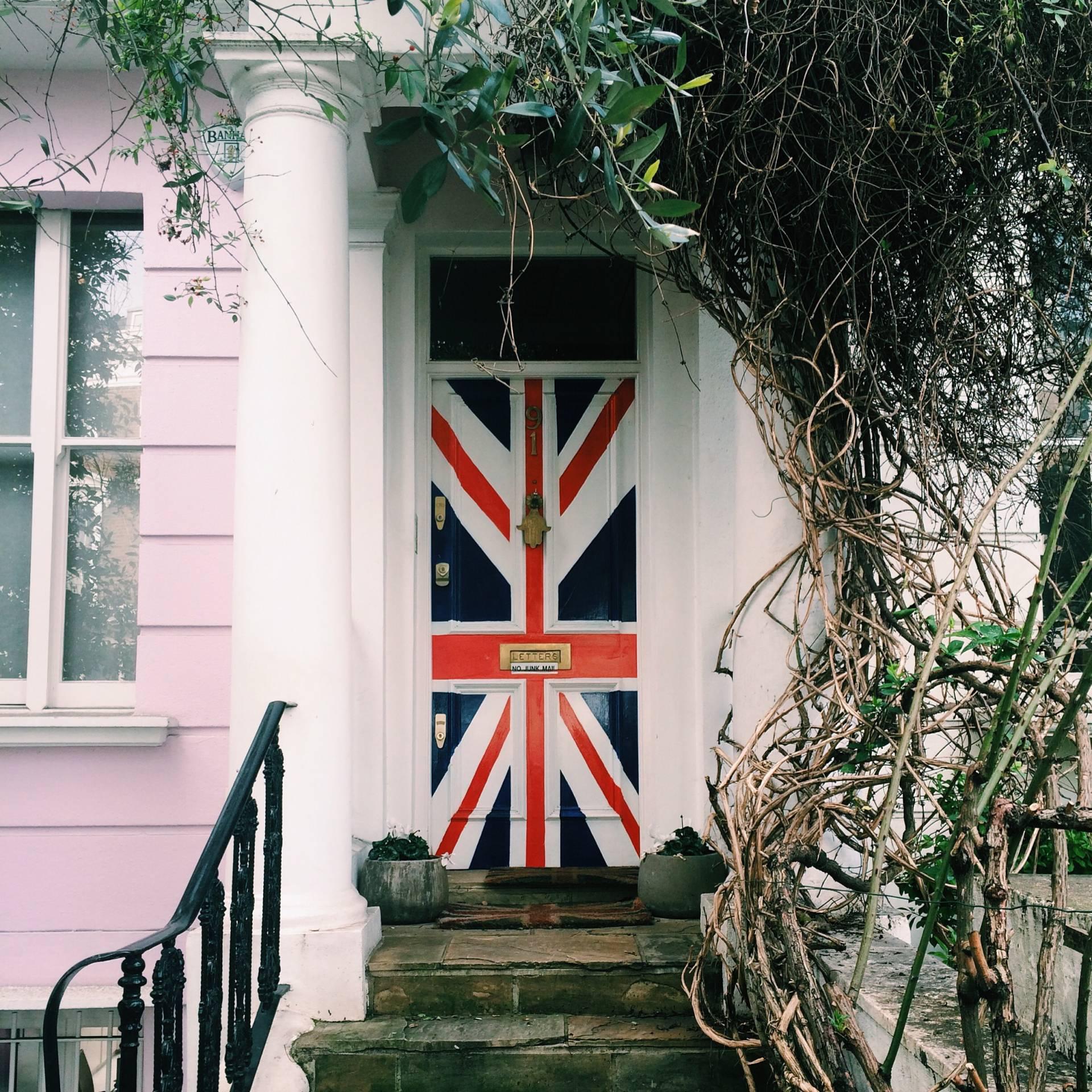 Union Jack door – Ledbury Road, Notting Hill