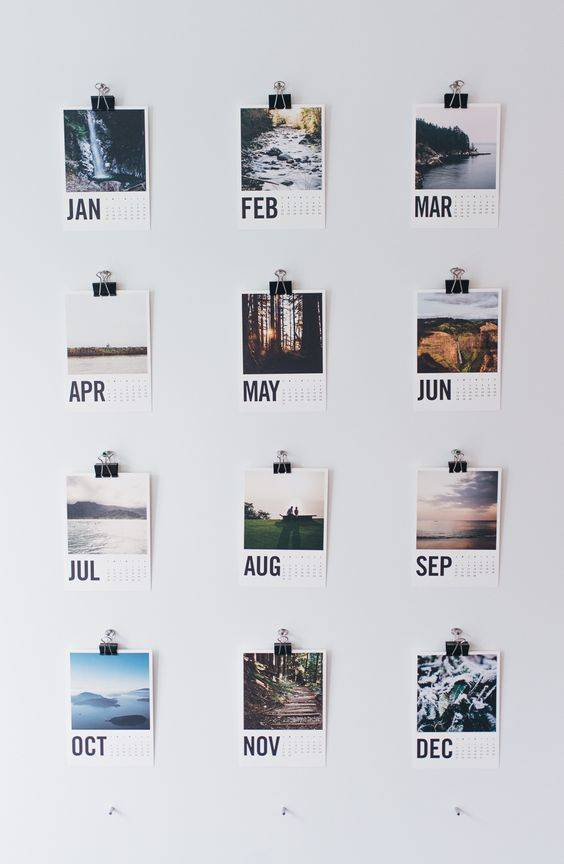 clip calendar instagram photos