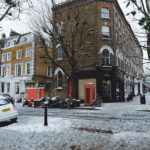 snow in london ok but first coffee