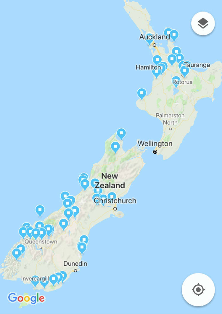 what to see in new zealand map