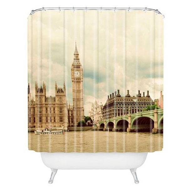 london themed gifts and london souvenirs katya jackson blog London bathroon curtain