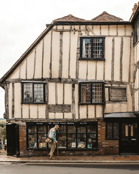Lewes-East-Sussex-Things-to-do-Instagram-places-Katya-Jackson-Vintage-15th century BookShop